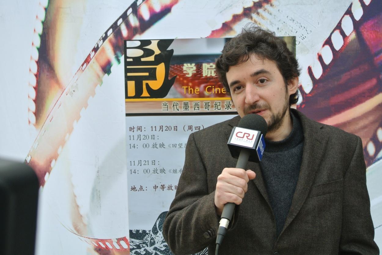 Coordinador de Difusión Cultural del CEM, ofrece una entrevista a Radio Internacional de China.