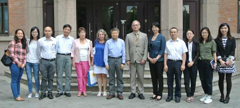La delegación de Posgrado de la UNAM con representantes de la Universidad Tsinghua.