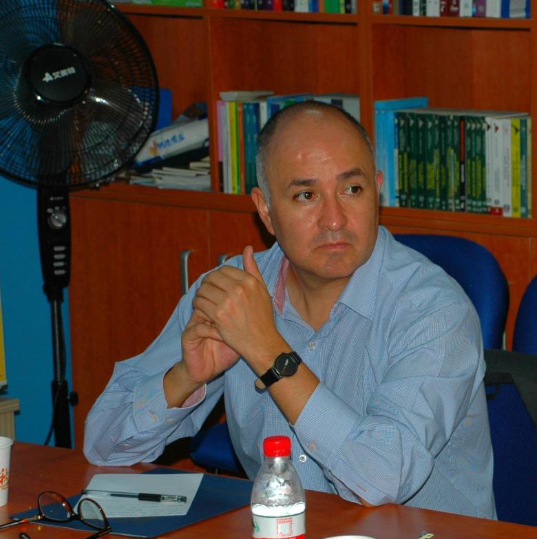 En el aula del CEM-UNAM-CHINA